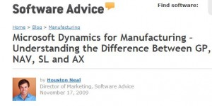 Microsoft Dynamics for Manufacturing – Understanding the Difference Between GP
