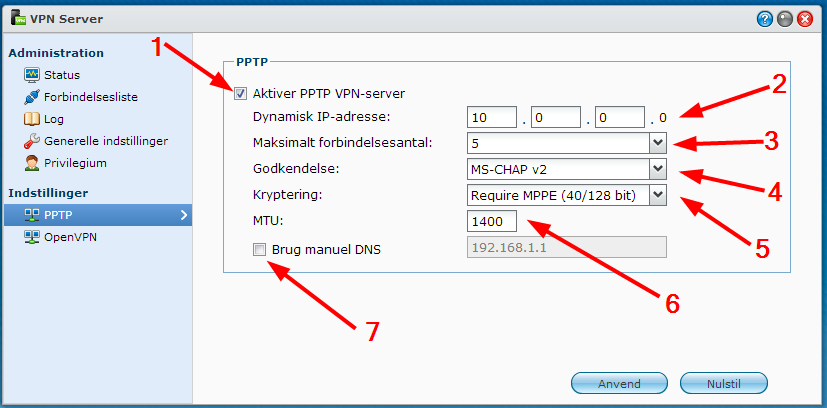 Synology - VPN Setup